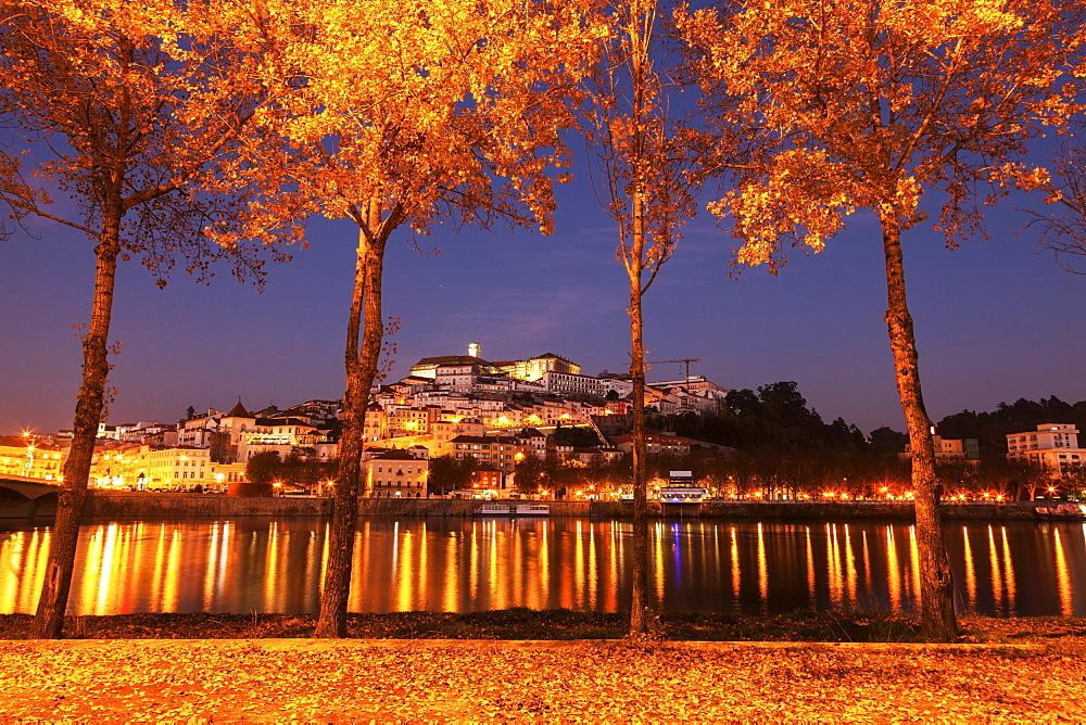 Portugal, Coimbra, Panorama of Coimbra across Mondego River - 1178-26190