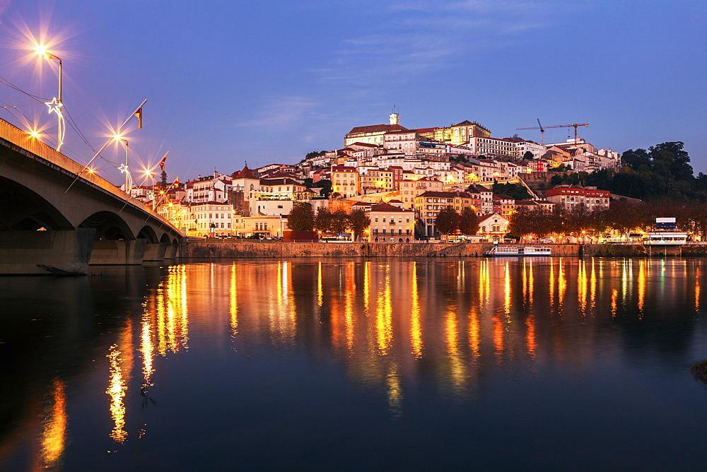 Portugal, Coimbra, Panorama of Coimbra across Mondego River - 1178-26194