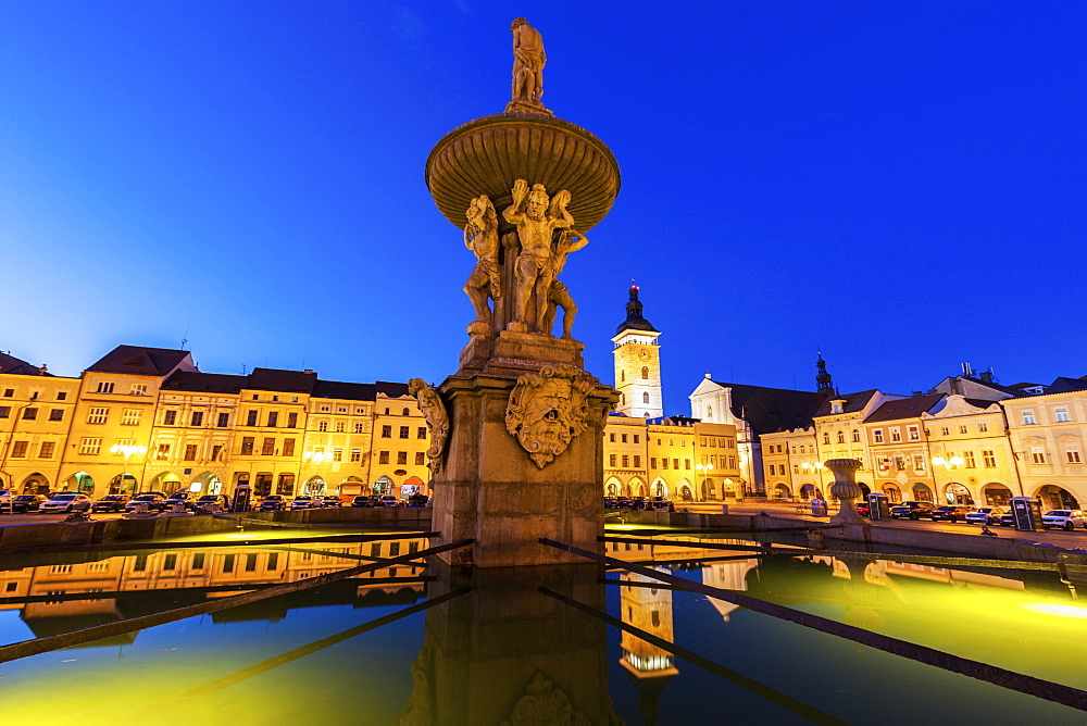 Czech Republic, Bohemia, Ceske Budejovice (Budweis), Main Square of city - 1178-26202
