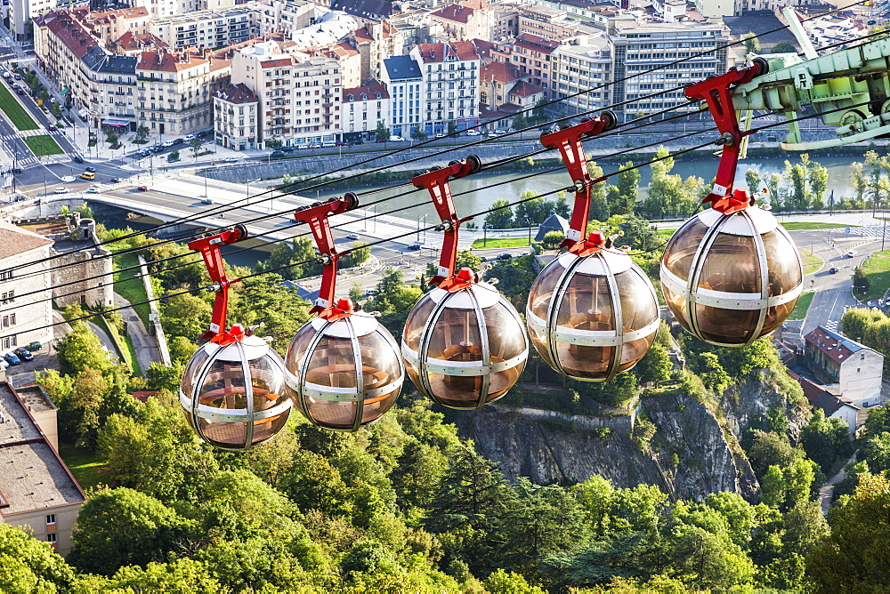 France, Auvergne-Rhone-Alpes, Grenoble, Grenoble-Bastille cable car - 1178-26213