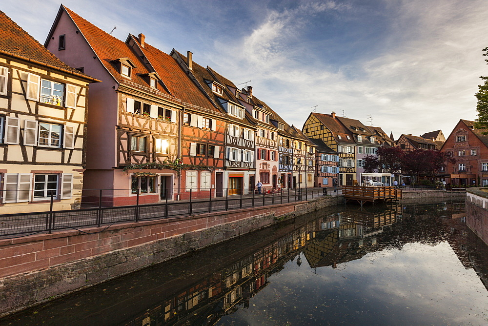 France, Grand Est, Colmar, Sky reflecting in water surface - 1178-26222