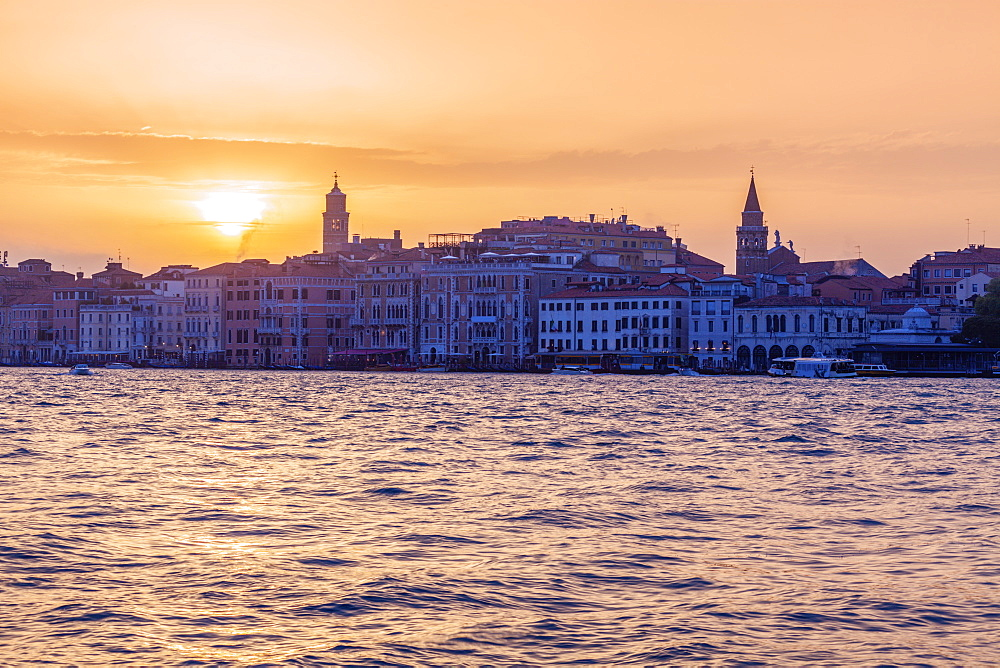 Italy, Veneto, Venice at sunset