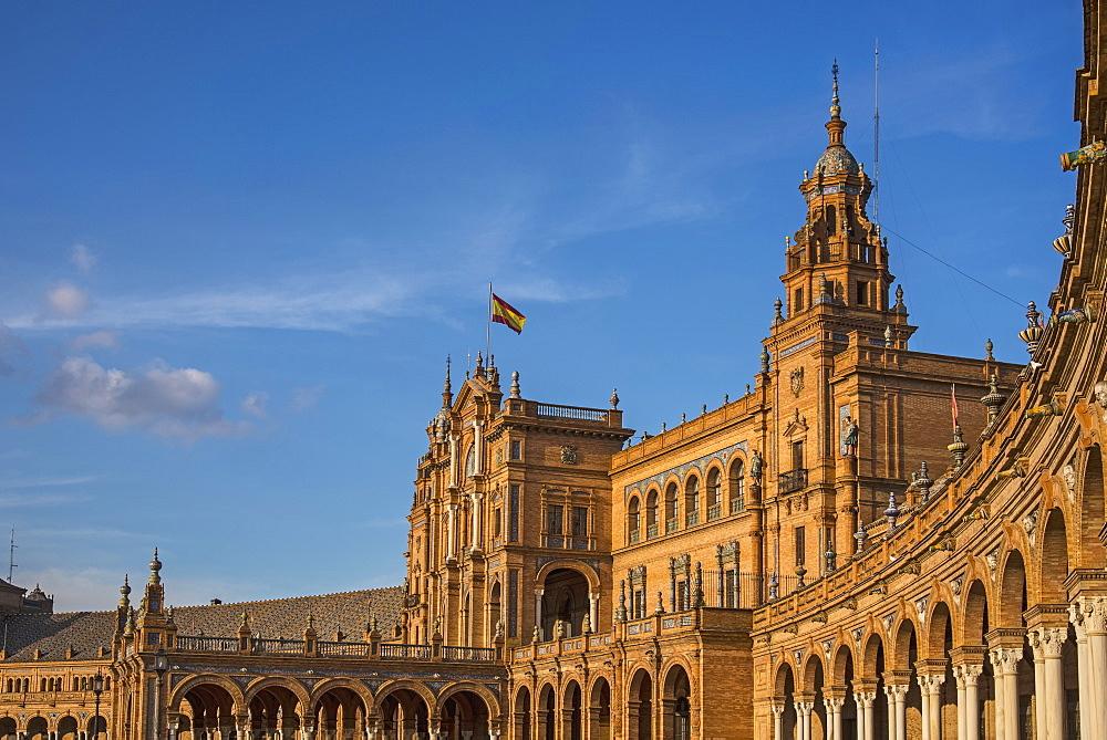 Spain, Seville, Plaza De Espana on sunny day - 1178-26272
