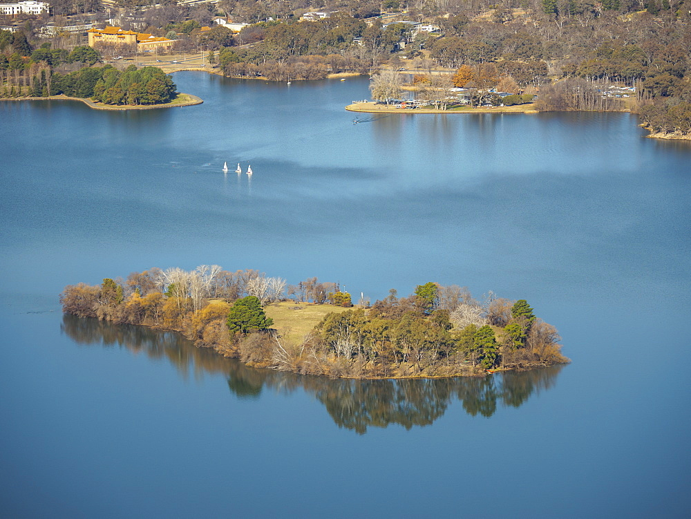 Island on Lake Burley Griffin, Canberra, Australia - 1178-26336