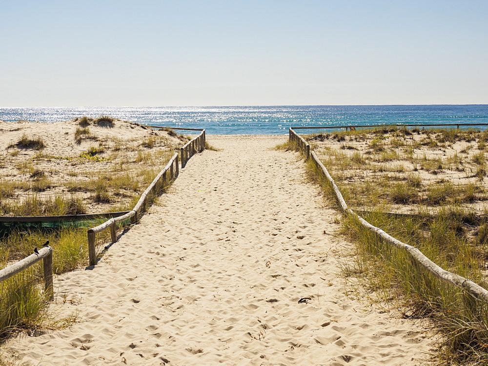 Beach walkway in Coolangata, Australia, Coolangata, Australia