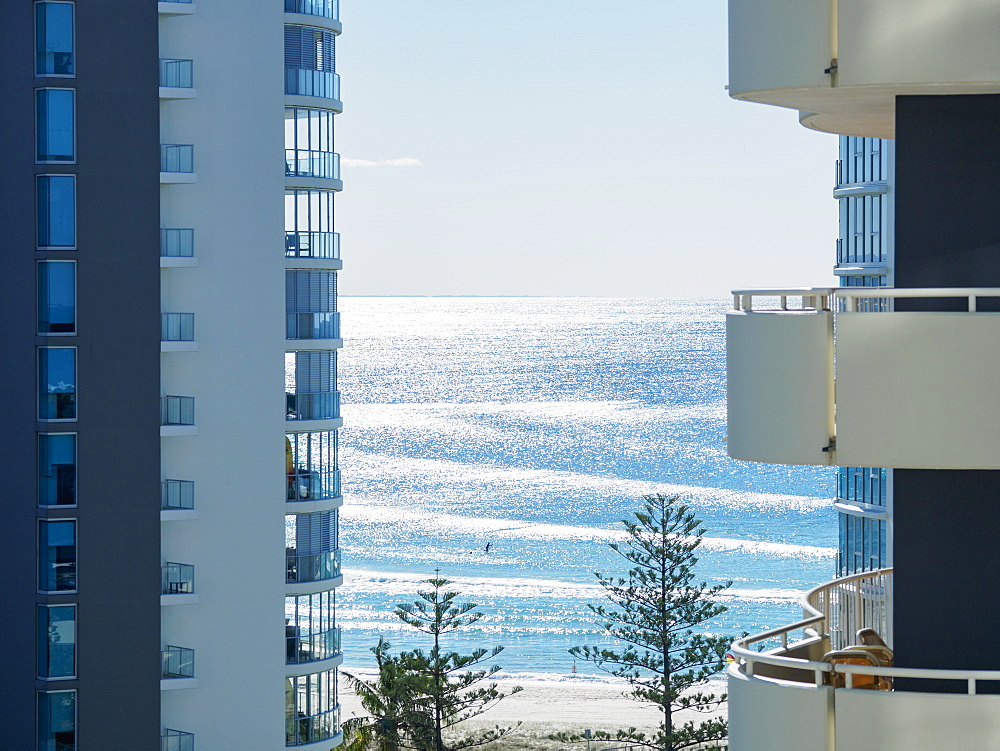 Apartment buildings by beach, Coolangata, Australia - 1178-26340
