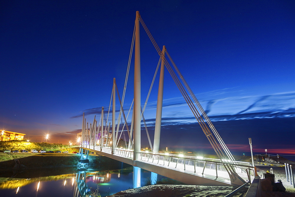 Bridge at night in Dunkirk, France, Dunkirk, Hauts-de-France, France - 1178-26350