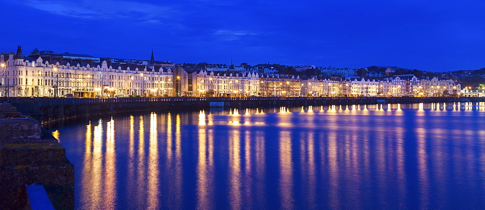 Buildings at night along waterfront of Douglas, Isle of Man, Douglas, Isle of Man - 1178-26356