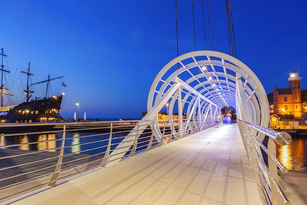 Pedestrian bridge in Ustka, Poland