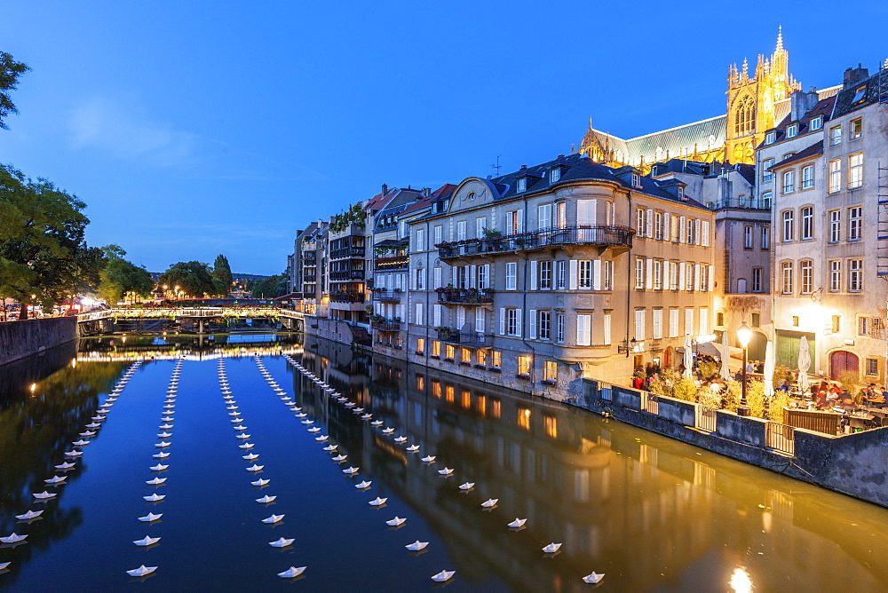 Night in Metz, France