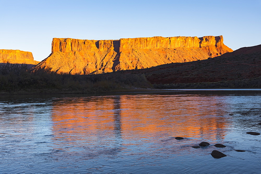 Cliffs by Colorado River in Utah, USA