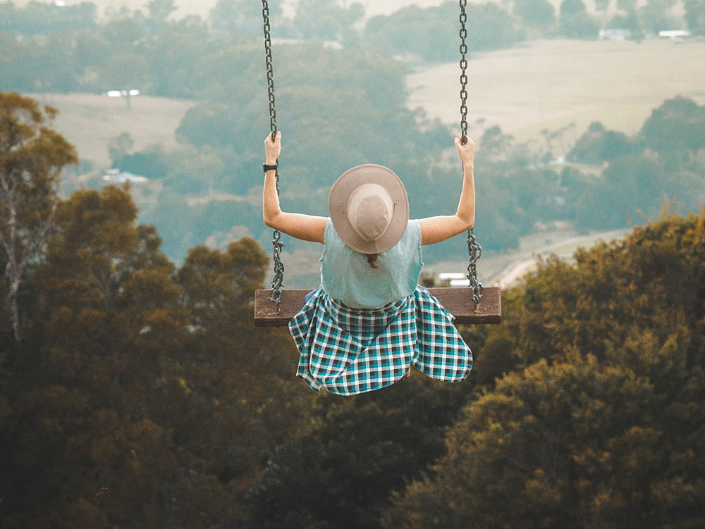 Woman on swing