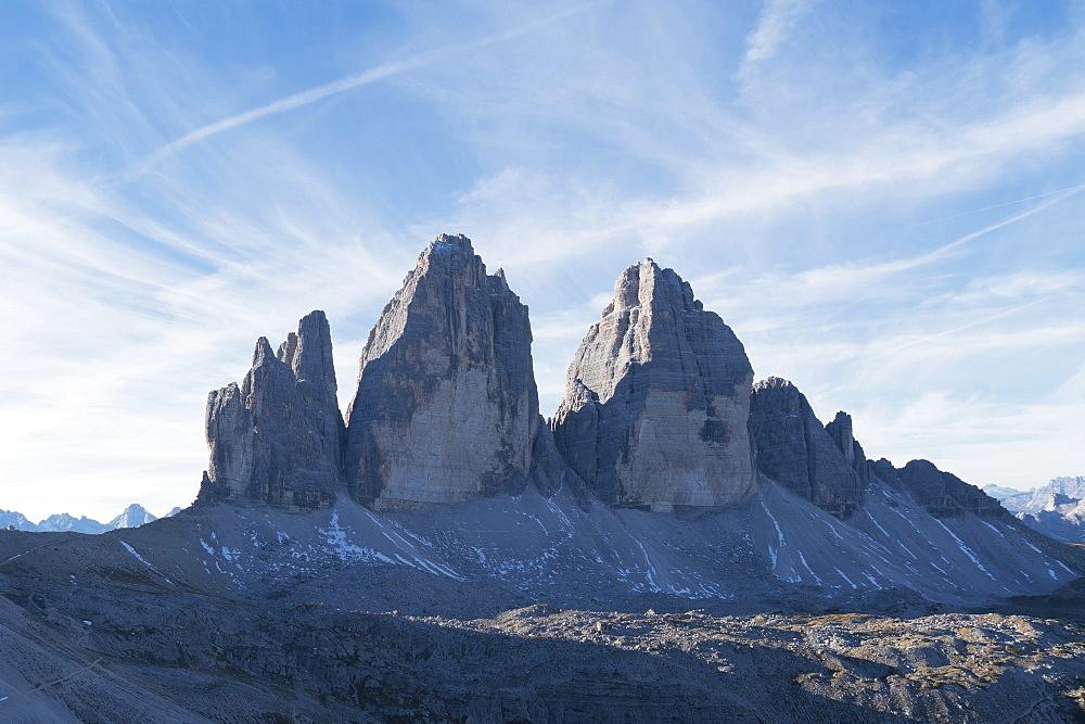 Tre Cime di Lavaredo in The Dolomites, South Tyrol, Italy