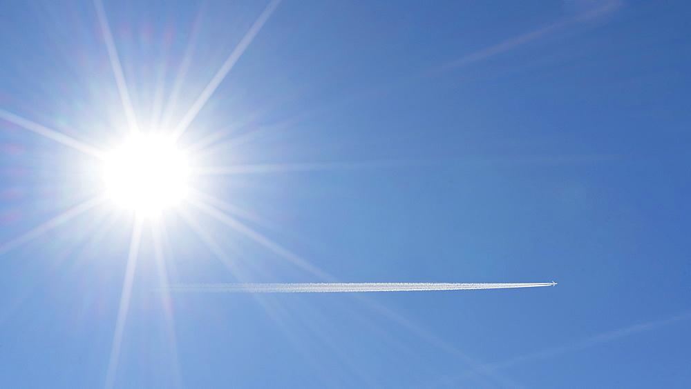 Sun in clear sky