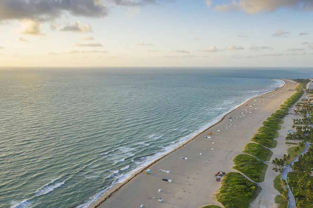Coastline of Miami Beach in Florida, USA