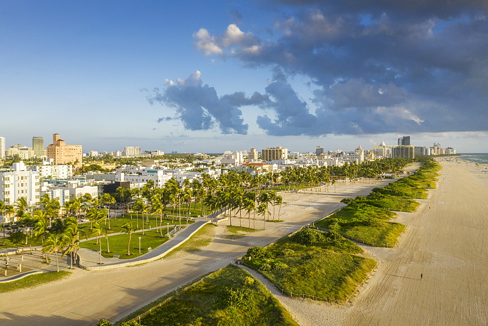 Cityscape of Miami Beach in Florida, USA