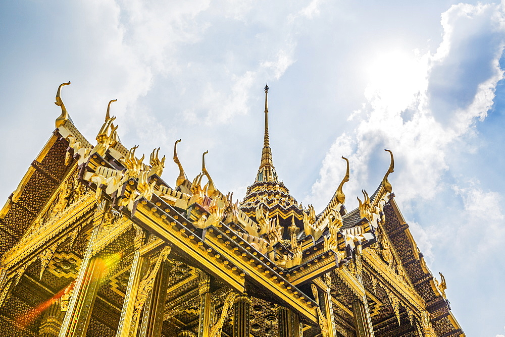 Low angle view of Wat Phra Kaew in Bangkok, Thailand