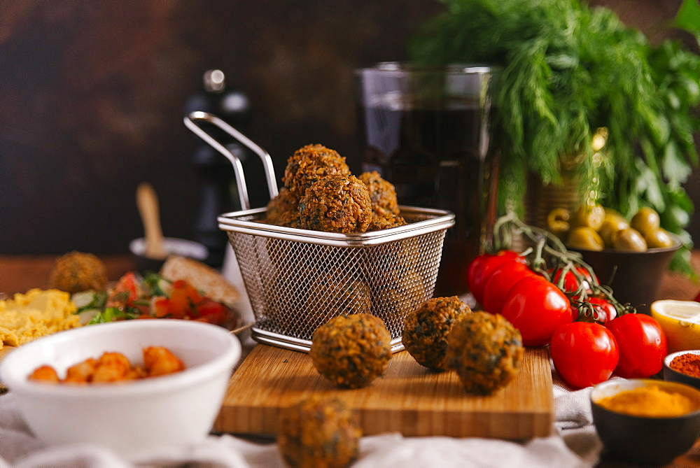 Falafel with ingredients