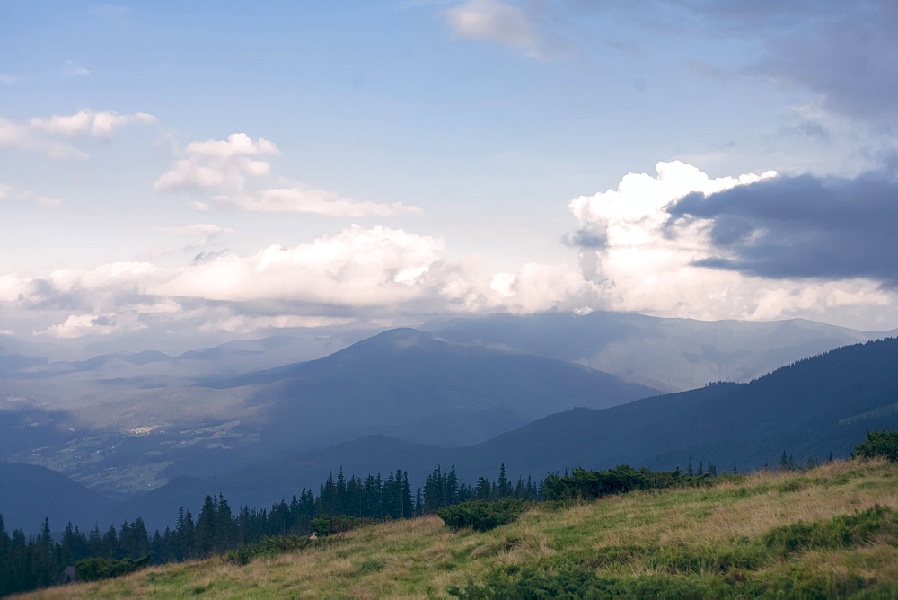 Mountains in the Carpathian Mountain Range, Ukraine