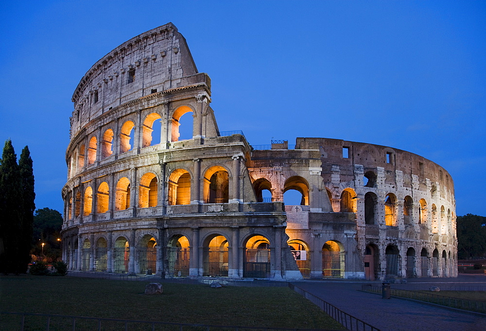 The Colosseum at night, Italy