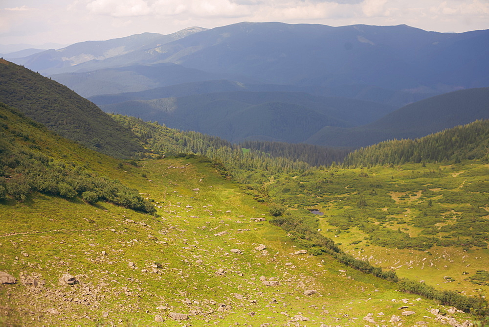 Mountains in the Carpathian Mountain Range