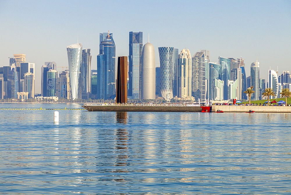 Skyscraper skyline in Doha, Qatar