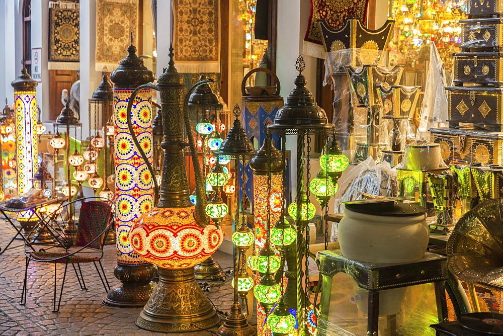 Lanterns at market in Manama, Bahrain