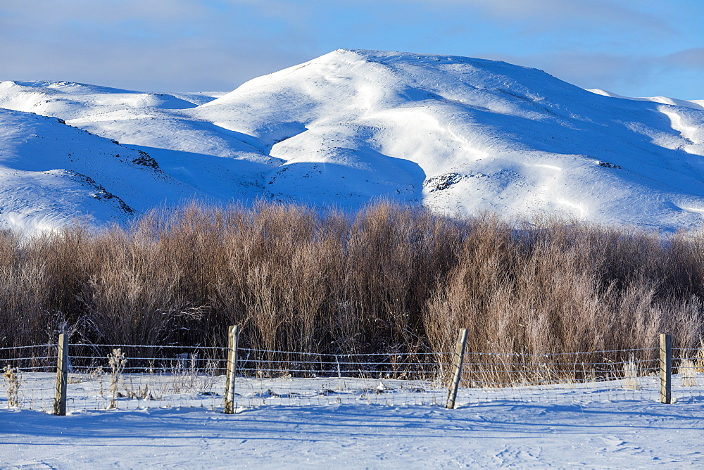Snow capped mountains in Picabo, Idaho