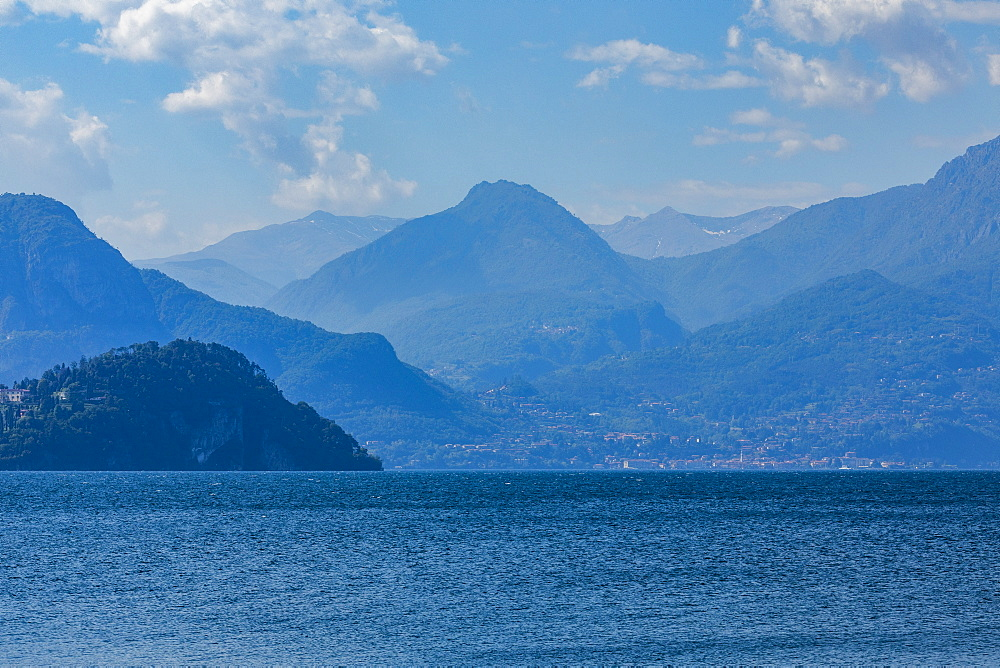 Mountains by Lake Como in Lombardy, Italy