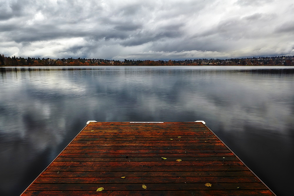 Jetty on Green Lake in Seattle, Washington