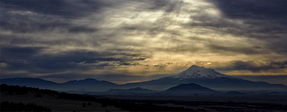 Mount Shasta at sunset in California, USA