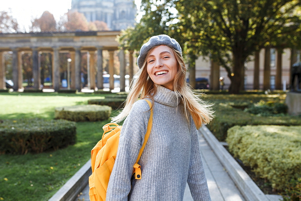 Young woman in Museum Island Park in Berlin, Germany
