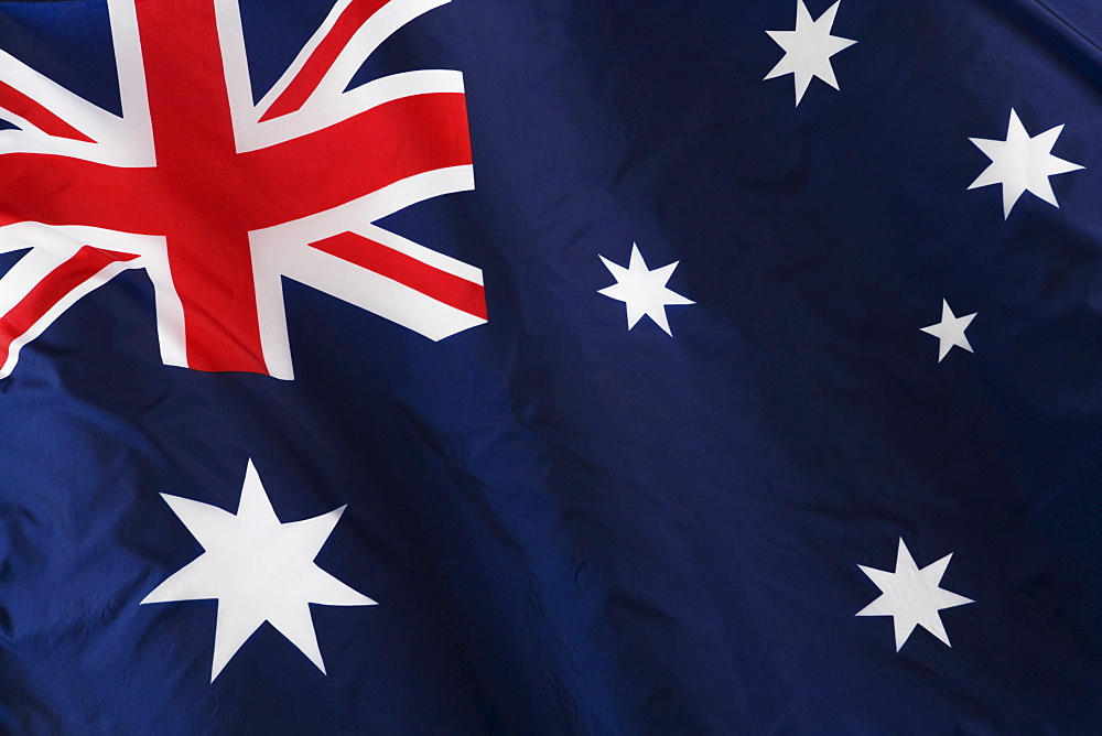 Close up of Australian flag