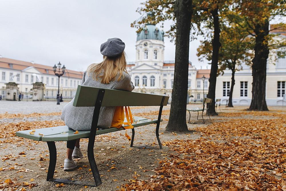 Young woman by Charlottenburg Palace