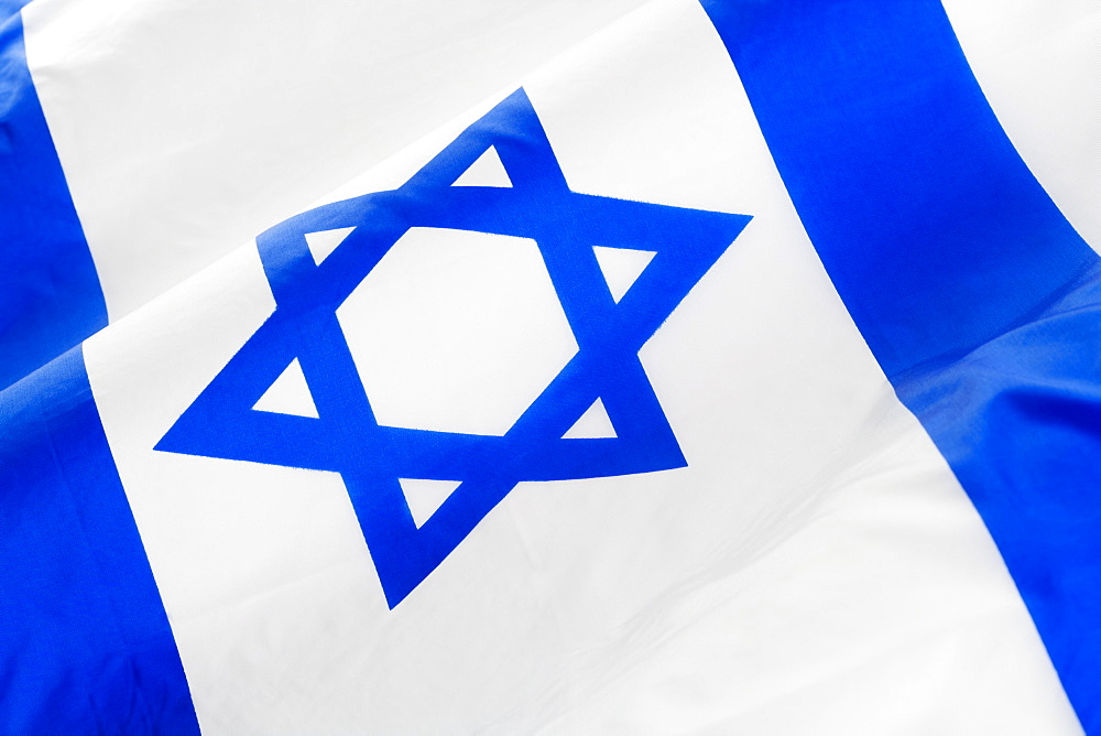 Close up of Israeli flag