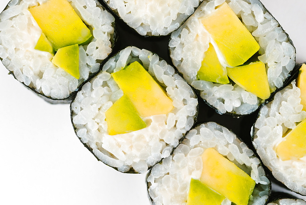 Sushi with avocado
