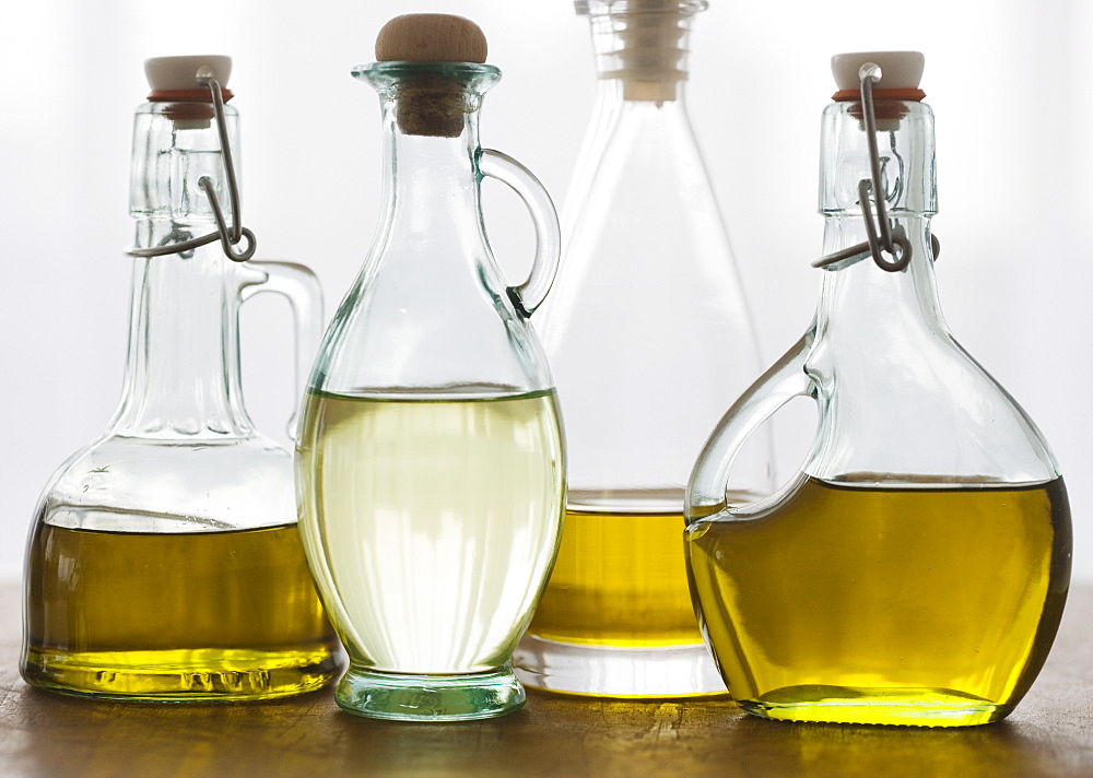Assorted bottles of oil