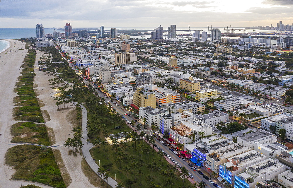 Cityscape of South Beach in Miami, USA