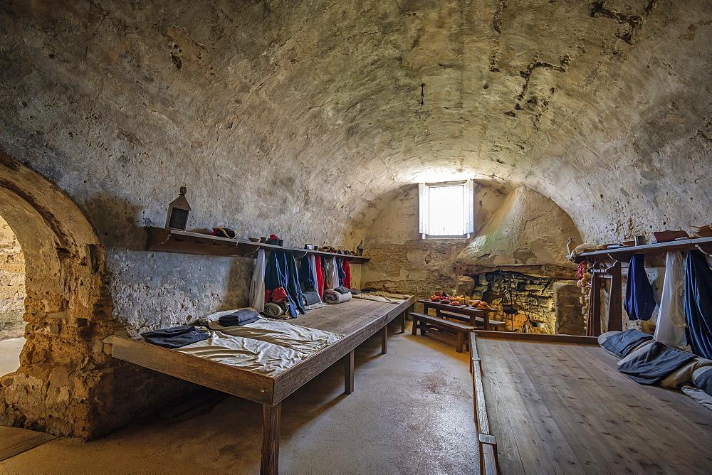 Dormitory in Castillo de San Marcos in St. Augustine, USA