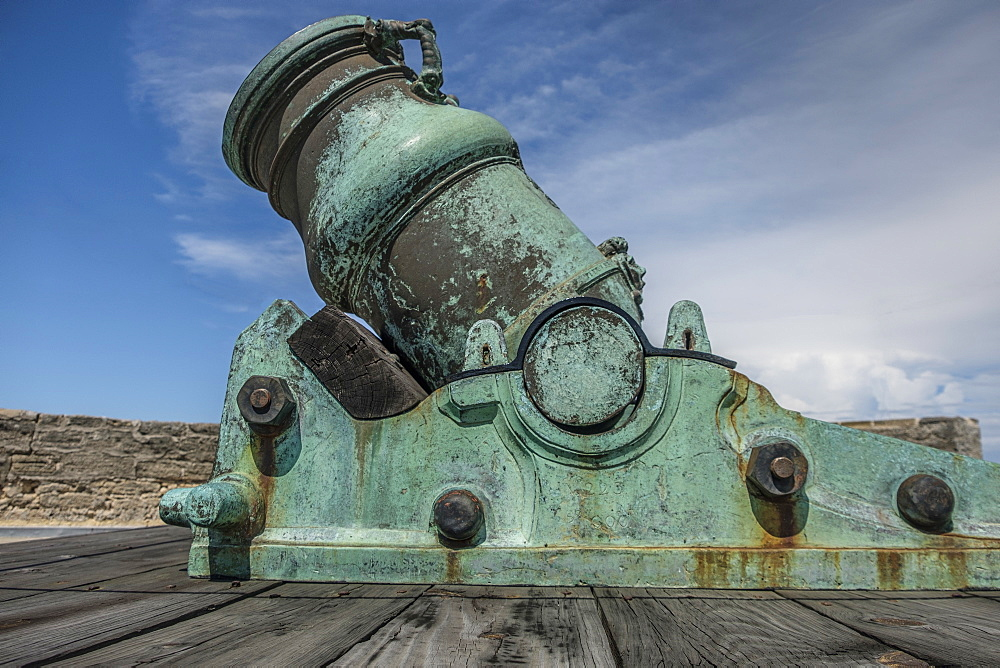 Cannon on Castillo de San Marcos in St. Augustine, USA