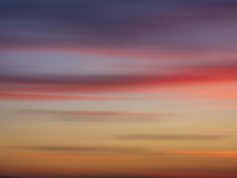Long exposure shot of sunset cloudscape