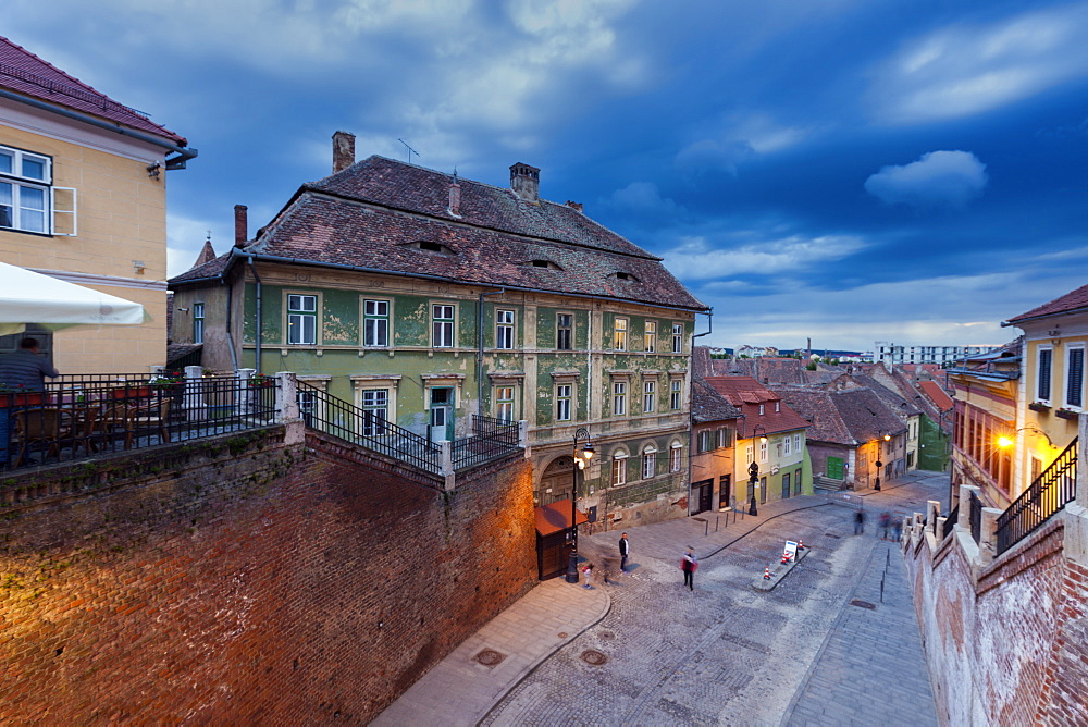Street in old town of Sibiu, Romania