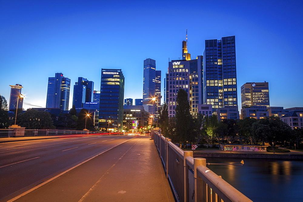 Modern skyline of Frankfurt, Germany