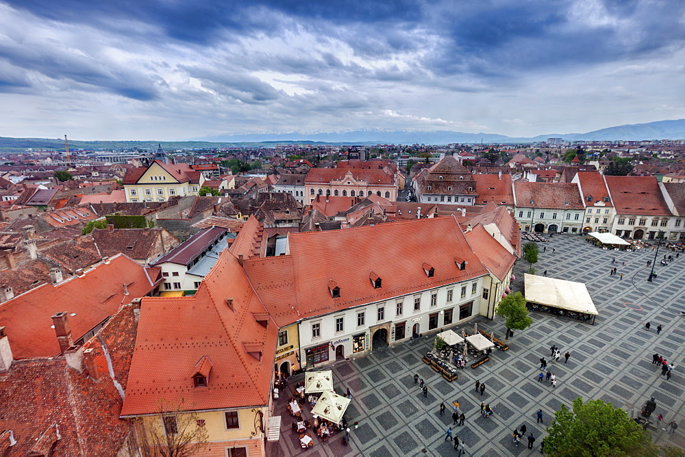 Grand Square in Sibiu, Romania