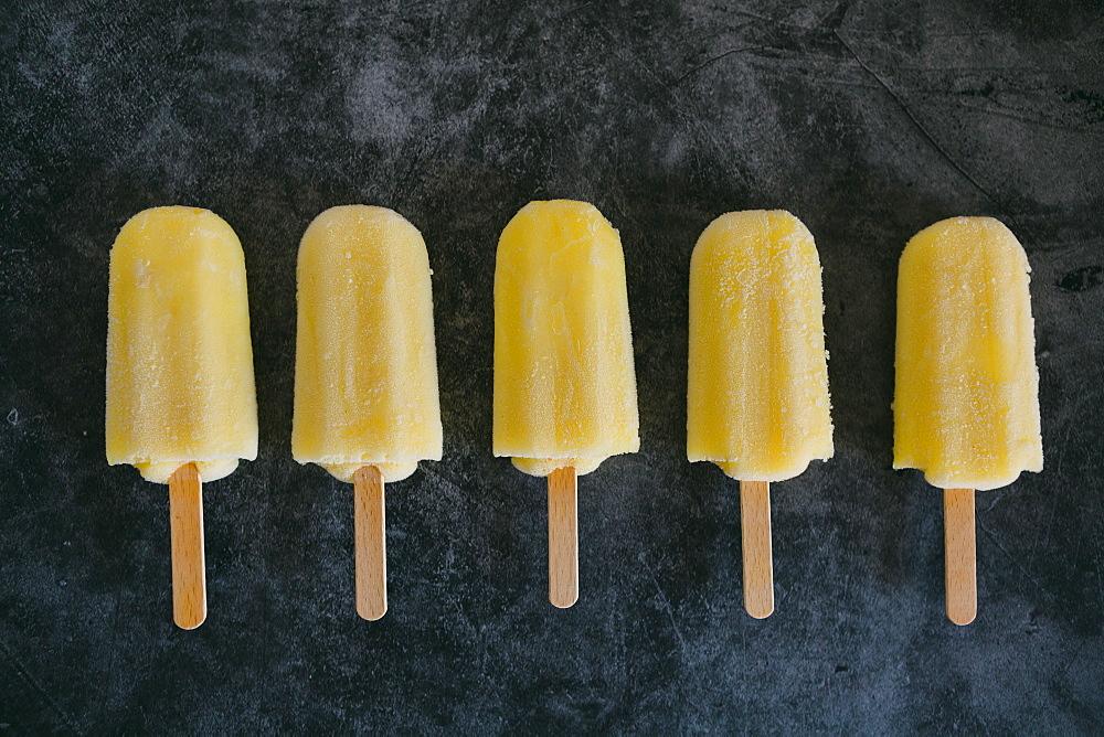 Row of lemon ice pops - 1178-27576