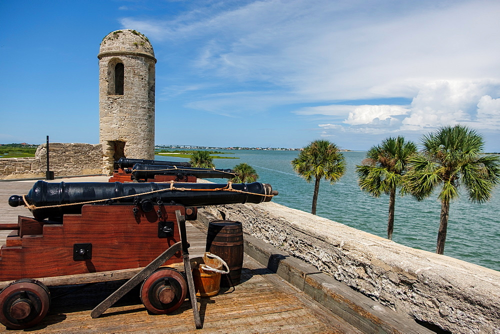Cannons on Castillo de San Marcos in St. Augustine, USA