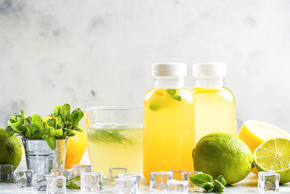 Lemonade with ingredients