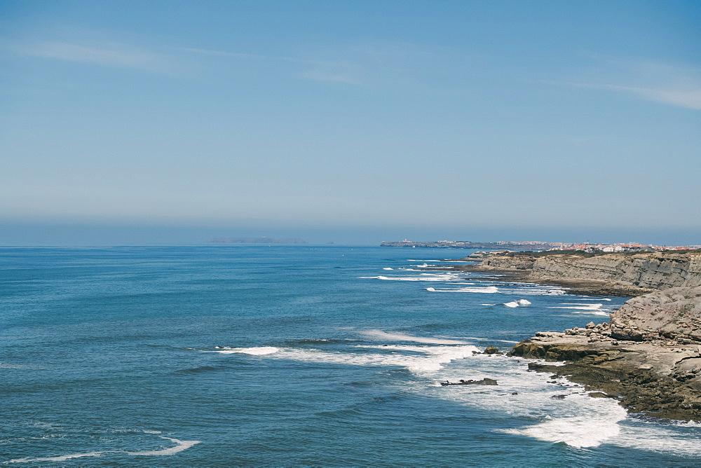 Rocky coastline in Sao Bernardino, Portugal