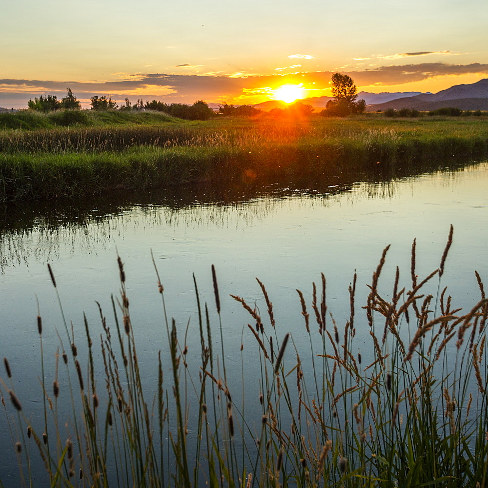 River at sunset in Picabo, Idaho, USA - 1178-27902