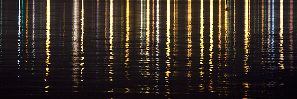 Reflection in sea at night